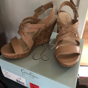 Jessica Simpson Nude Wedges